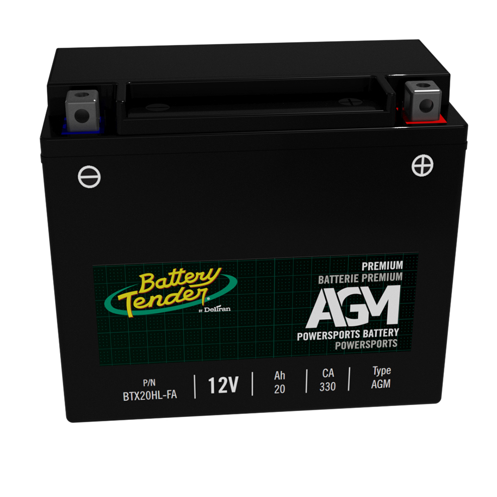 High Performance 12V 20aH 330 CCA Powersports Engine Start Battery Battery Tender AGM Motorcycle Battery: Absorbent Glass Mat Battery for Motorcycles ATVs BTX20HL-FA UTVs and More